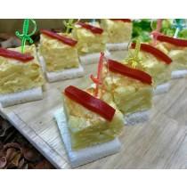 Taquitos de tortilla con pimiento del piquillo (bandejas de 36 Unidades)